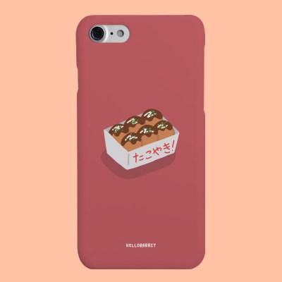 [헬로래빗]타코야끼 레드  하드 핸드폰 케이스