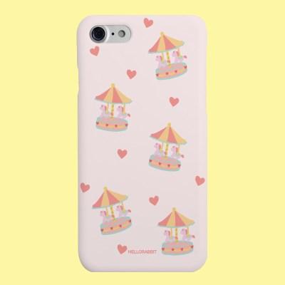 [헬로래빗]회전목마 핑크  하드 핸드폰 케이스