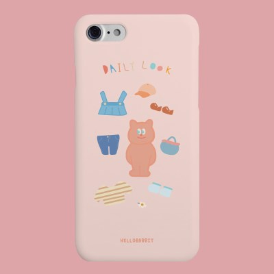 [헬로래빗]데일리룩 핑크 핸드폰케이스