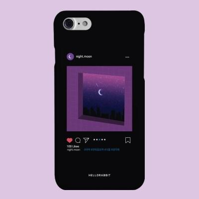 [헬로래빗]새벽스타그램 블랙 하드 핸드폰케이스