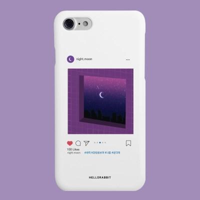 [헬로래빗]새벽스타그램 화이트 하드 핸드폰케이스