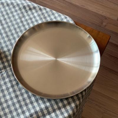 소소모소 소소 스텐 원형 접시 대