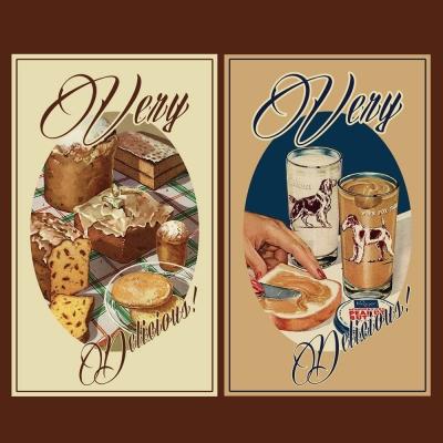 [소행섬] 빈티지 딜리셔스 포스터 스티커팩