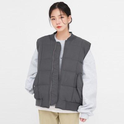 casual block vest padding_(1410559)