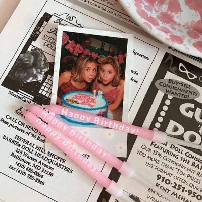 Pink Birthday Candles 핑크벌스데이캔들