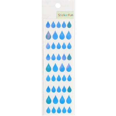 스티커펀 오로라 스티커 (물방울)