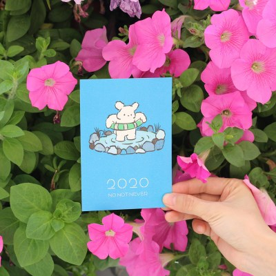 2020 CALENDAR 뭉개 캠핑 포스트카드 데스크 달력