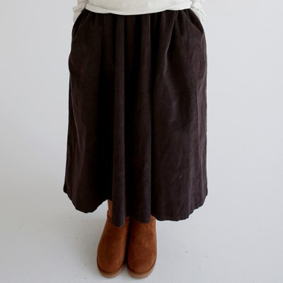 banding flare cozy skirts (2colors)_(1411279)