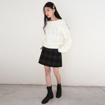 calm mini check skirts (s, m)_(1411005)