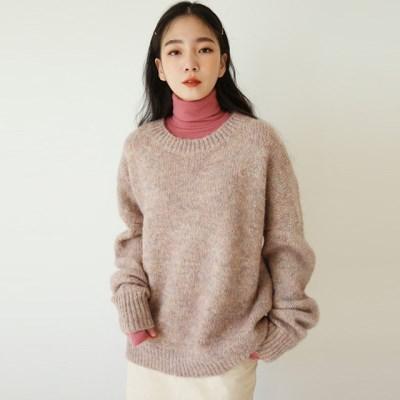 lovely wool boxy knit_(1411002)