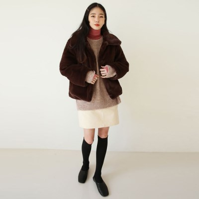 mink fur like padding jacket_(1410992)