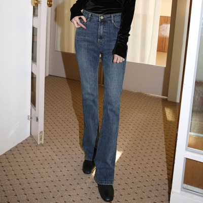 vintage bootscut napping denim pants (s, m, l)_(1410986)