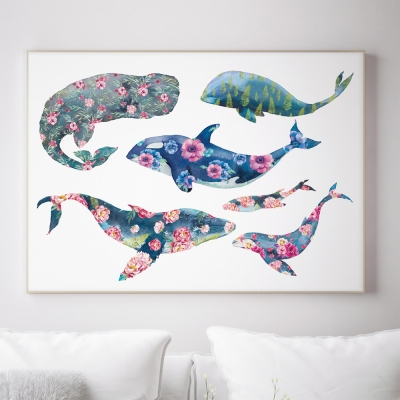 [꽃길걷는 행운액자] 꽃고래 와 고래소풍
