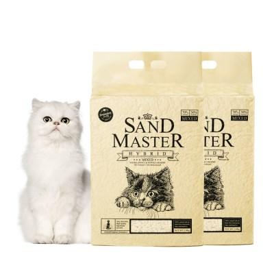 샌드마스터 하이브리드 2.8kg x 2개 벤토 고양이모래_(841922)