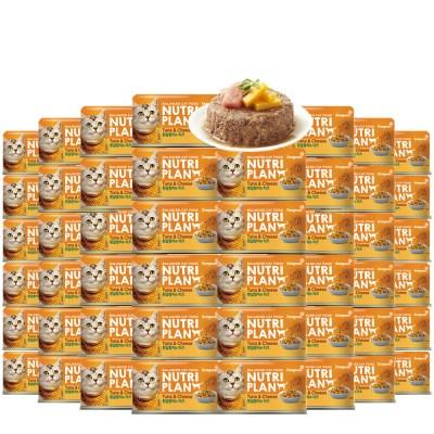 뉴트리플랜 참치와 치즈 160g x 48개 대용량 고양이캔_(843335)