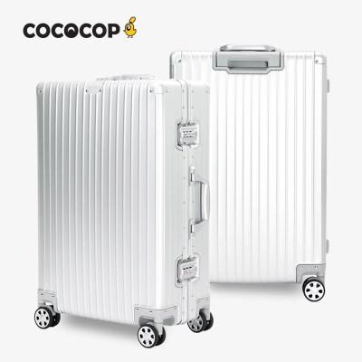 코코캅 델라2 26인치 수화물 실버 알루미늄 100% 여행용 캐리어