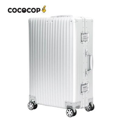 코코캅 델라2 24인치 수화물 실버 알루미늄 100% 여행용 캐리어