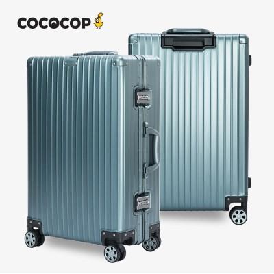 코코캅 델라2 20인치 기내용 블루 알루미늄 100% 여행용 캐리어