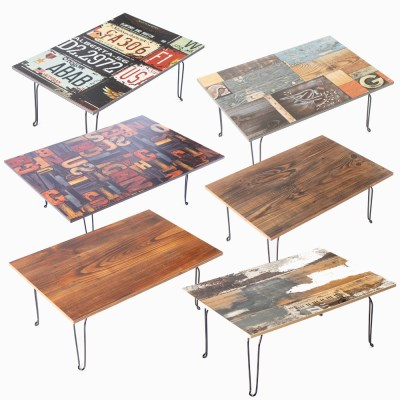 [리코베로] 빈티지 직사각 다용도 접이식 테이블 600 6가지 패턴