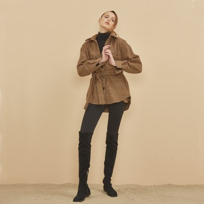 OUTER CHECK SHIRT BEIGE