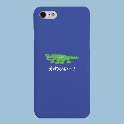 [헬로래빗] 악어 블루 하드 핸드폰 케이스
