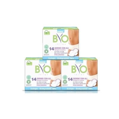 비오인티마 100% 유기농 약국생리대 중형 3팩