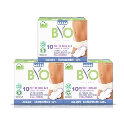 비오인티마 100% 유기농 약국생리대 대형 3팩