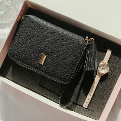 태슬 카드지갑 + 가죽시계 세트 (선물포장)