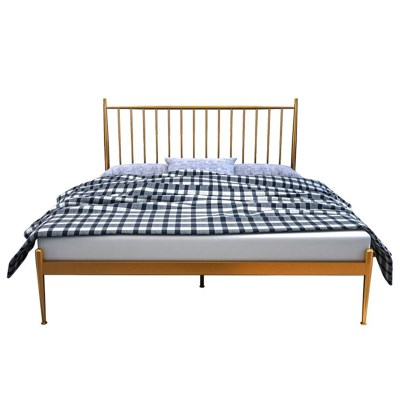 아파트32 홈 골드 철제 심플 침대 프레임 라지킹(1800x2000)