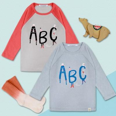 [플루토나인] 알파벳 나그랑 티셔츠