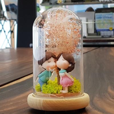 [숲앤숨]유리돔 동화 무드등 - 프리저브드 드라이플라워