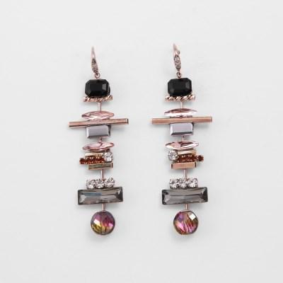 [쥬디앤폴] 비아 핸드메이드 크리스탈 드롭 귀걸이 E51234