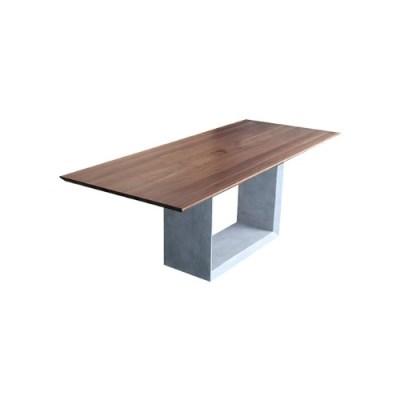 INC_T_0027 콘크리트 원목 테이블 MDF 무늬목 인테리어 디자인