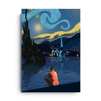 Fromsky A5 미니 포스터 (The Starry Night)