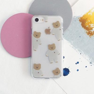 [젤리케이스] 패턴곰블리 498 폰케이스 삼성갤럭시