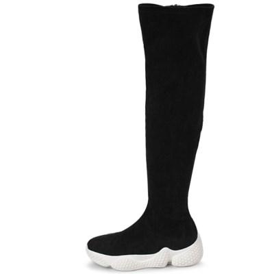 kami et muse Platform suede knee high boots_KM19w239