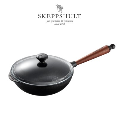 [SKEPPSHULT] 스켑슐트 트래디셔널 웍 25cm + 유리뚜껑_(1878439)