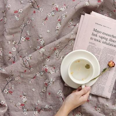 [Fabric] 백마포 설중매(雪中梅) 100% 퓨어린넨 캔버스