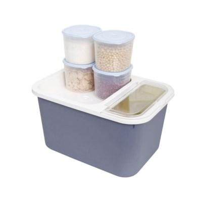 버디 잡곡쌀통 중 10kg+잡곡통 4p