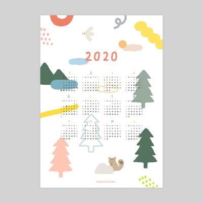 2020 CALENDAR / PAPER & FABRIC