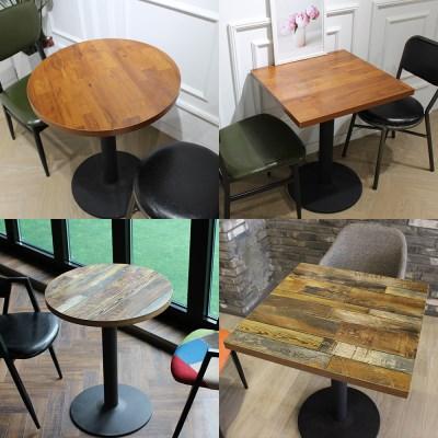 멀바우 빈티지 원형/사각 테이블 산타페의자 세트