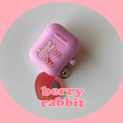 [뮤즈무드] berry rabbit airpods case (에어팟케이스)