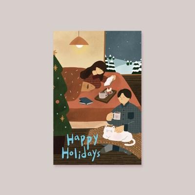 캘리엠 Happy Holidays 캘리그라피 카드