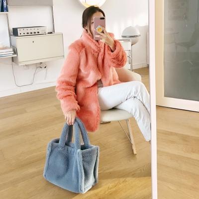 리버시블(양면) 에코 퍼 털가방