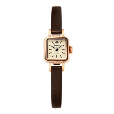 로즈몽  RS#5-06 MILANESE 로즈골드 여성 가죽시계 15mm_(1284511)