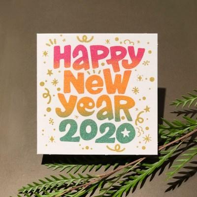 [핸드메이드카드] 해피 2020