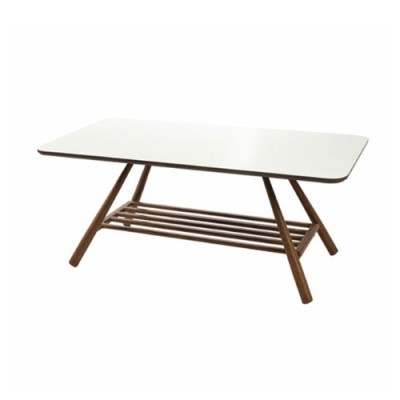 T855 좌탁 철제 무늬목 테이블