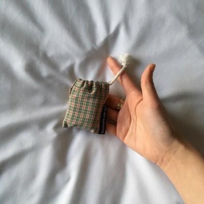 빈티지 그린 체크 에어팟케이스 (Vintage green check airpods case)