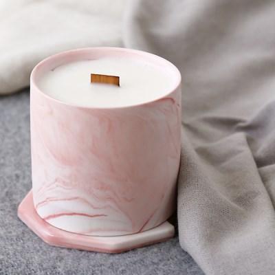 마블 핑크 캔들 210g(중)