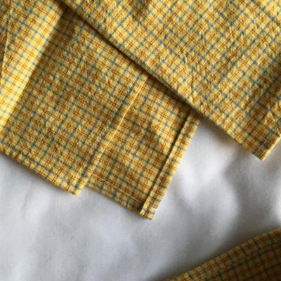옐로우 체크 테이블 매트(Yellow check table mat)